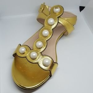 Gucci Gold Willow Sandals